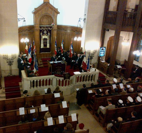 Cérémonie du souvenir à la synagogue de Chasseloup Laubat  mai 2013